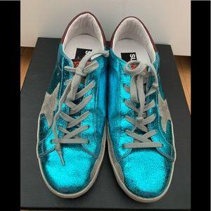 Golden Goose aquamarine sneakers